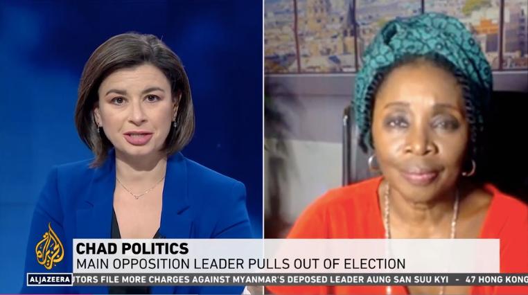 Marie-Roger Biloa sur Al Jazeera : Elections présidentielles au TCHAD